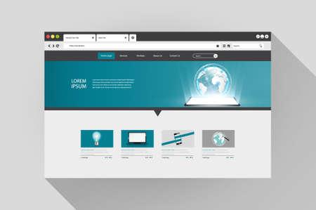 addresses: Vector web browser with website design