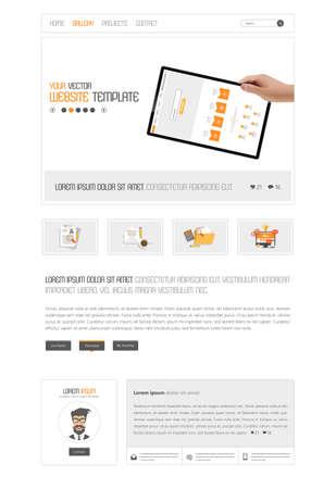 Web Design, Website Templates, Web Elements. Vector. Vector Illustration