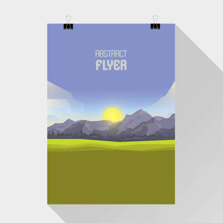 harsh: Mountainous terrain, polygonal background, vector illustration.