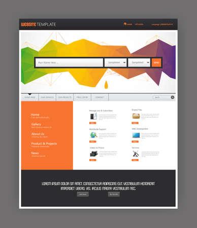 Colorful Simple One Page Website Template Design. All in one set for website design Vektoros illusztráció