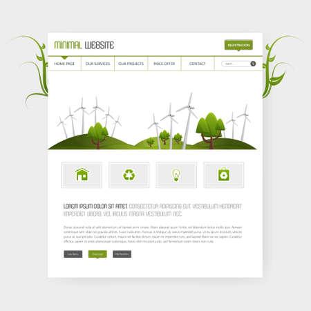緑のエコ ベクトルのウェブサイト テンプレート
