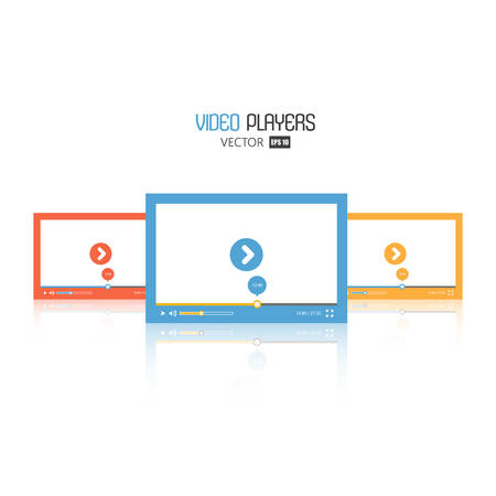 video player: Modern flat video player interface.