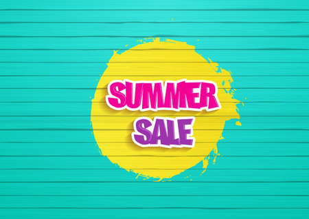 painted wood: Summer Sale Design. Painted wood background, with graffiti style, summer sale readable text.