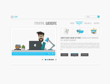 deign: Website floor elements slideshow interface for your pictures. Vector design