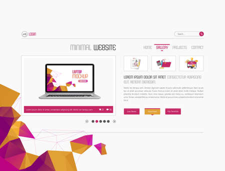slideshow: Website Template floor elements slideshow interface for your pictures. Vector design