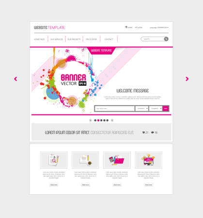 slideshow: Colorful Website template for Summer Time.