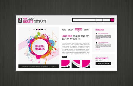 Colorful Website template for Summer Time. Vektoros illusztráció