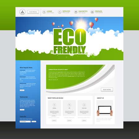 Eco Green Website Template layouts. Vector design elements of your website, ui ux kit.
