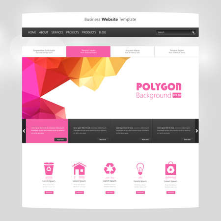 Website design template. All in one set for website design, website templates and UX  UI kit for website design.