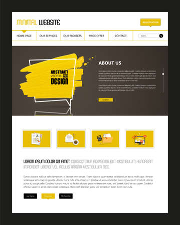 page site: Website Template Vector eps10, Modern Web Design with flat UI elements, and abstract speech bubble. Ideal for Business layout.