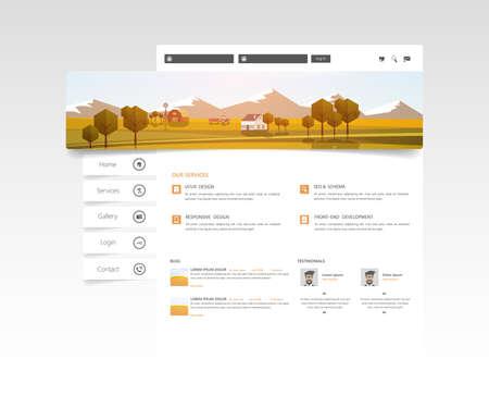 Website Design for Your Business, Vector Illustration