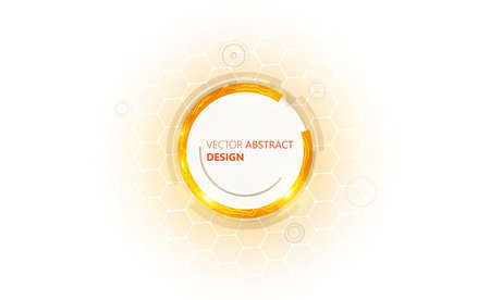 sg: Orange colored abstract technology background vector background Illustration