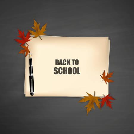 advertiser: Autumn Concept Design, Illustration Vecor, Paper with Autumn Leaves. Illustration