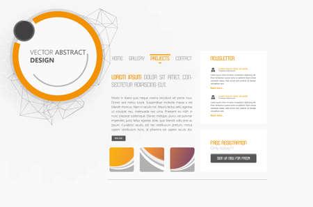 website header: Website Design Vector Illustration with Abstract Header