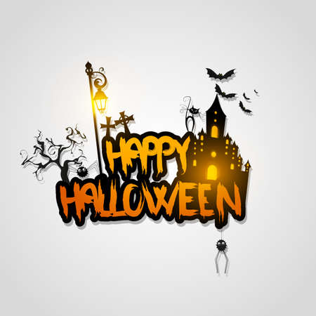 Halloween poster  card  background Illustration