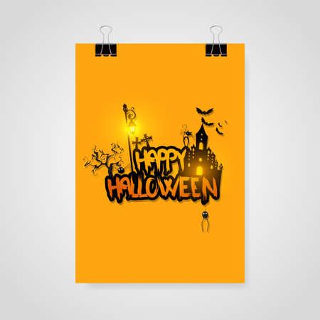 Halloween poster  card  background Illustration