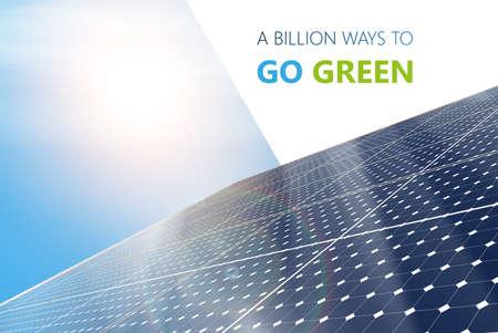 Szczegółowe ilustracji wektorowych Electric Panel słoneczny. Fotorealistyczne Vector Design