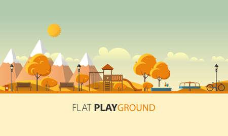 Vector illustration Abstract Flat Public Park.