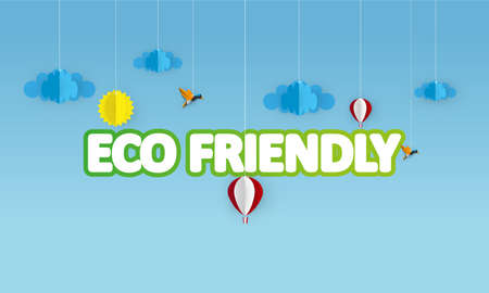 eslogan: Alto diseño vectorial detallado Eco creativo, Eco Friendly Lettering. Vector Eps 10. Se puede utilizar la insignia, lema.
