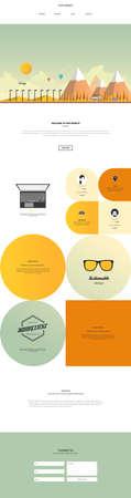One Page Website Design Template Vector Design in Professional. Vektoros illusztráció