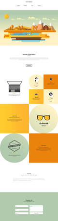 One Page Website Design Template Vector Design in Professional, Illustration