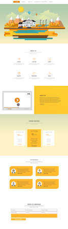 One Page Website Design Template Vector Design in Professional,
