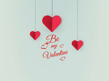 Hanging Valentine's Day Cut Out Paper hearths