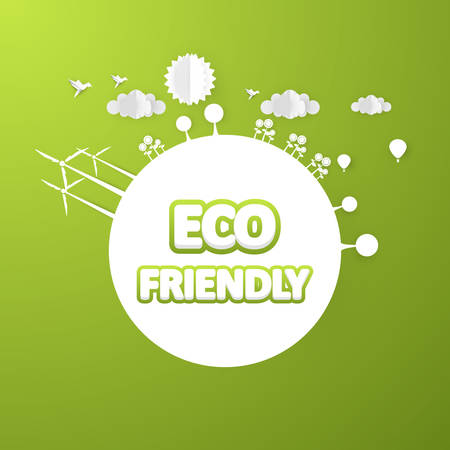 eco slogan: High Detailed Vector Design Creative Eco, Eco Friendly Lettering. Vector Eps 10. Can be Used logo, slogan. Illustration