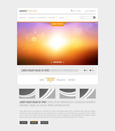 Vector Sunset website template Vektoros illusztráció
