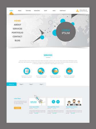 Modern Website Template Interface, Vector Illustration. Vektoros illusztráció