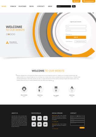 Website Template Interface, Vector Illustration. Vektoros illusztráció