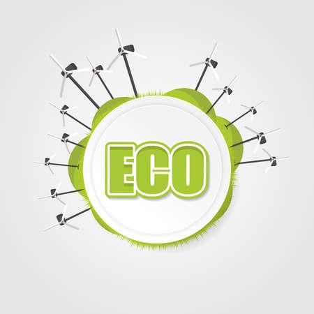 original ecological: Abstract design eco label. Illustration