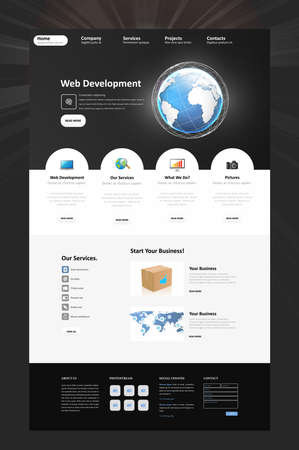10th: Business Corporate Website Template In Editable Vector Format. Eps 10th