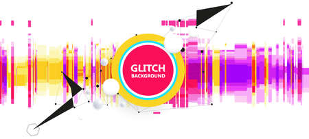 Geometric glitch abstract vector background. Modern chaos illustration. Ilustrace