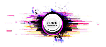 Geometric glitch abstract vector background. Modern chaos illustration.