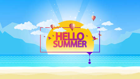 Creative Abstract Vector Summer Landscape, with Space for Your Text.