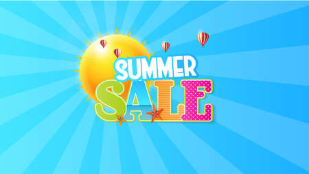Summer Sale Quality Vector Abstract Design, Illustration