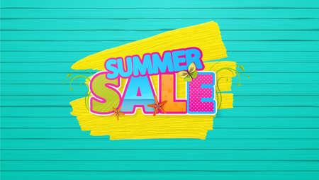 Summer Sale Quality Vector Abstract Design Foto de archivo - 81002210