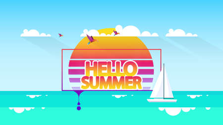 Abstract Background Vector Summer Greeting.
