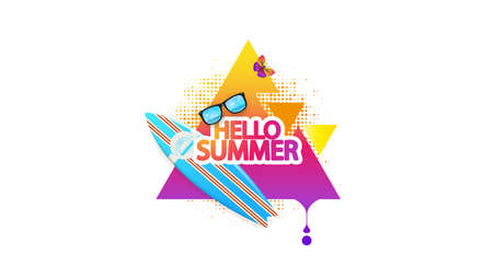 Summer Decorative Abstract Background Vector Illustration on White Greeting Illustration