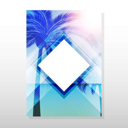 レトロな夏の空のベクトルのポスターやチラシのデザイン。ベクター Eps 10、あなたのテキストのためのスペースを。  イラスト・ベクター素材