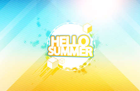 Vector: Abstract Blurred Summer Background, Bokeh, Defocused Background. Illustration