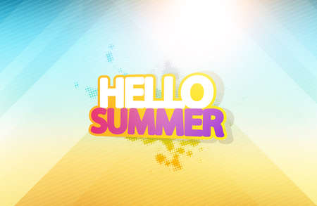 Vector abstract blurred summer background