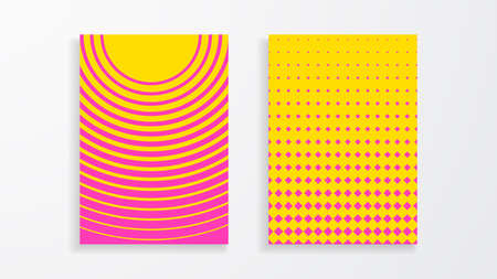 Covers with geometric pattern. Colorful backgrounds. Applicable for Banners, Placards, Posters, Flyers. Eps10 vector template.