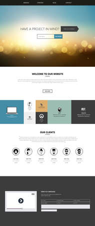 Website templates, icons, headers, blurred backgrounds and other vector elements for your design.