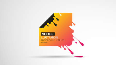 Vector illustration of abstract square. Abstract splash, liquid shape. Background for poster, cover, banner, placard. Иллюстрация