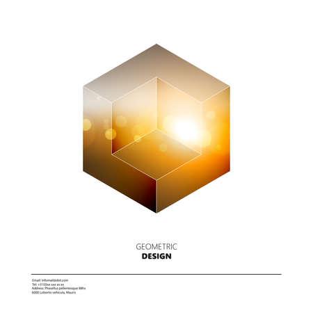 Minimal Design, Bokeh background in Polygonal Design. 矢量图像