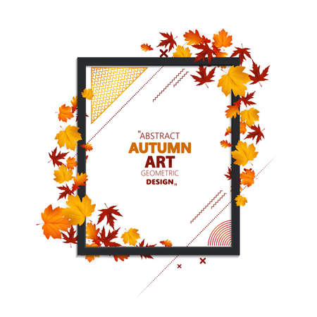 Autumn sale background for design use. Vector illustration. 向量圖像