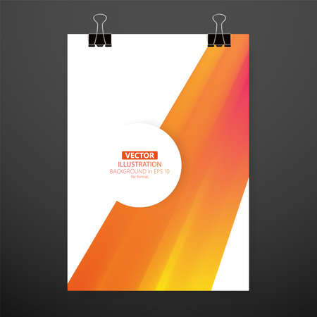 Modern abstract cover. Cool gradient waves composition. Eps10 vector. Illustration