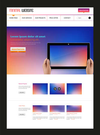 Colorful modern web page design for website and mobile website development. Easy to edit and customize.
